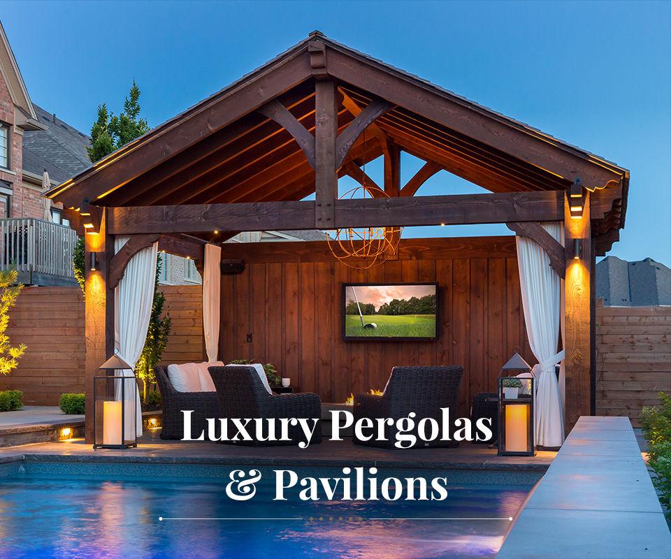 heavy timber pergolas and pavilions