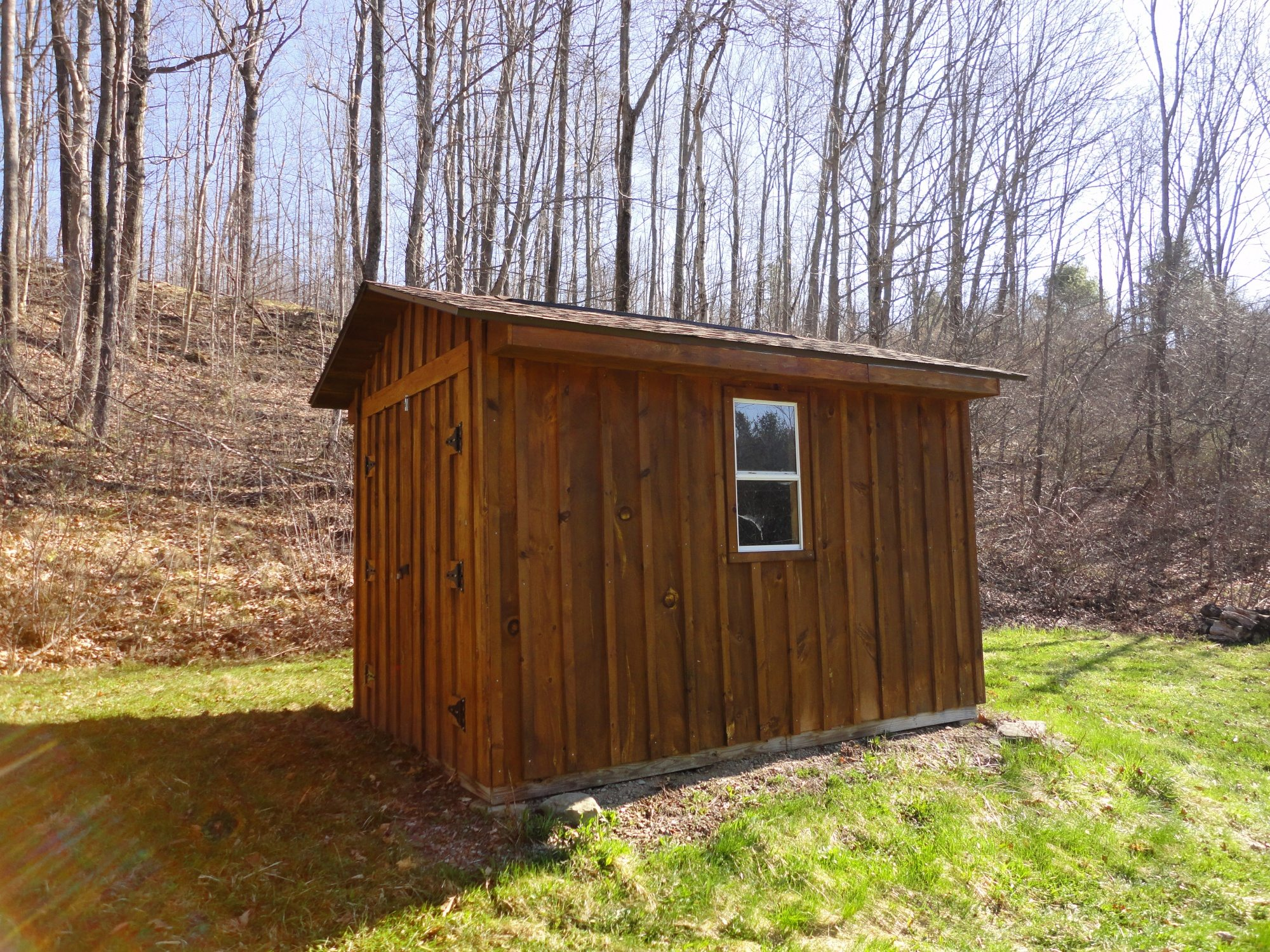 Building a shed on a hill - 2 Acres With Cabin And Shed Close To Coyle Hill State Forest In The Town Of Friendship