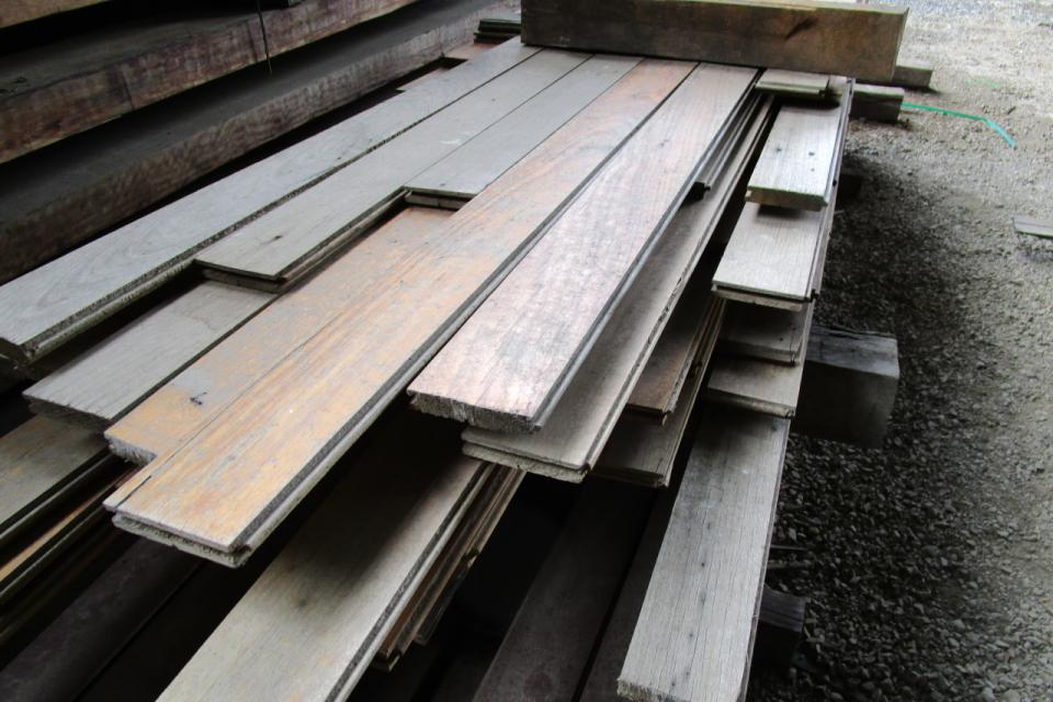 Recycled Tasmanian Oak Floorboards For Cladding Lining