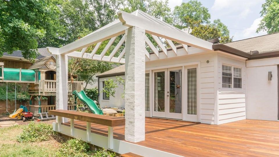an arbor a pergola a patio cover is