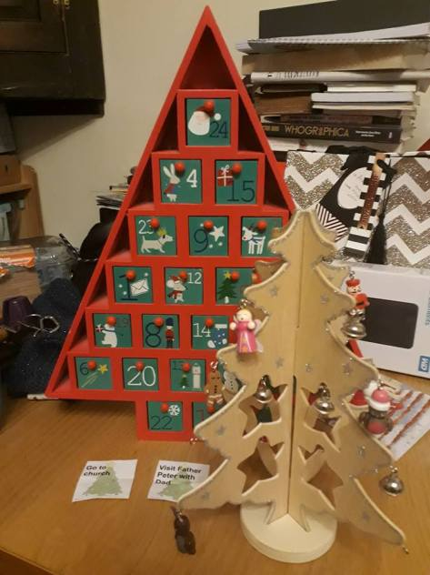 Advent calendar trees