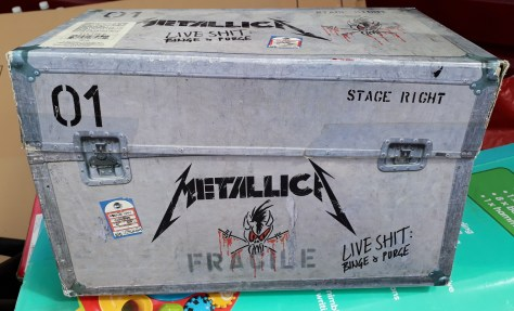 battered case for Metallica's 'Live Shit Binge & Purge'