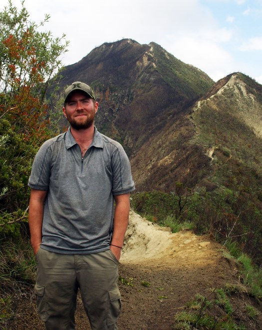 Tim Brauhn on the rim of Mt. Longonot in Kenya