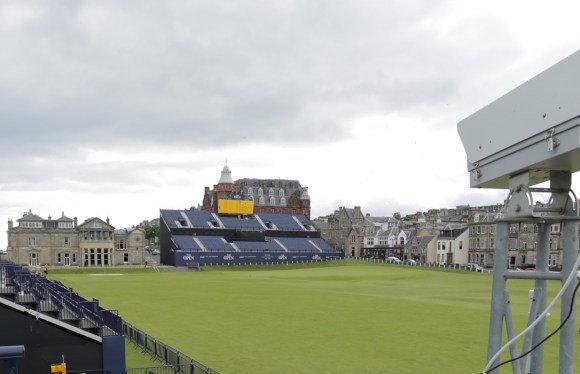 Time-lapse camera system in situ at St Andrews Links Scotland