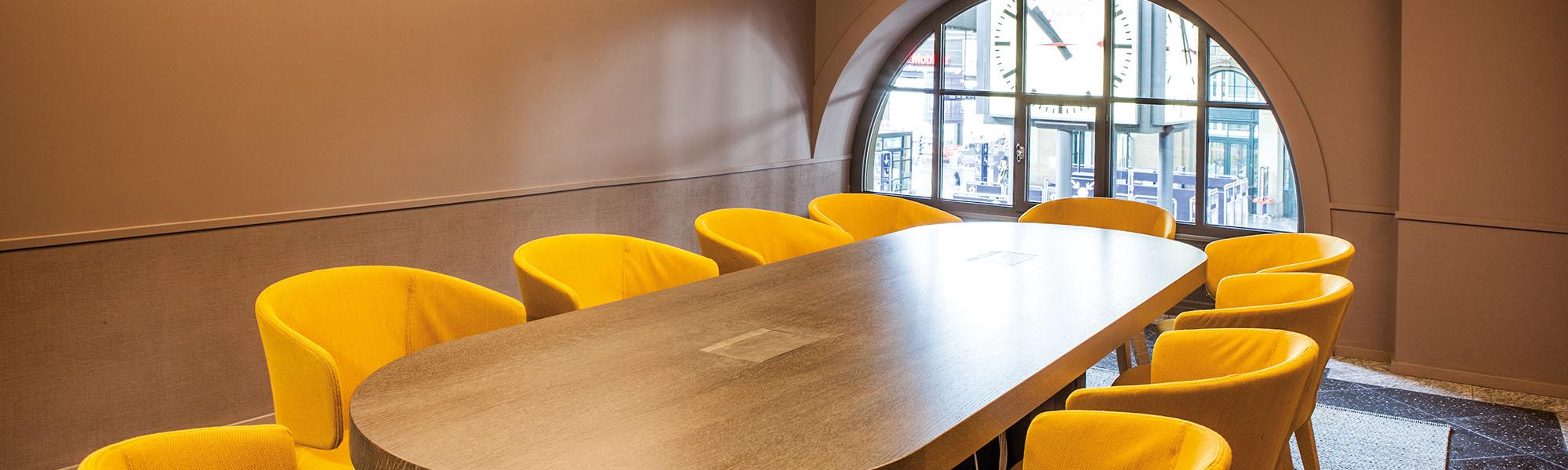 Die Besprechungsräume des TIME am HB Zürich Bar Lounge Restaurant Meetingroom