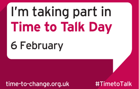 I'm taking part in Time to Talk Day