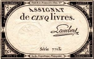 assignat for 5 livres