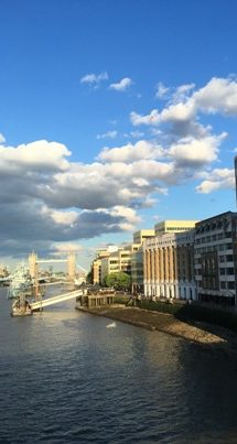 the balloon against the London skyline