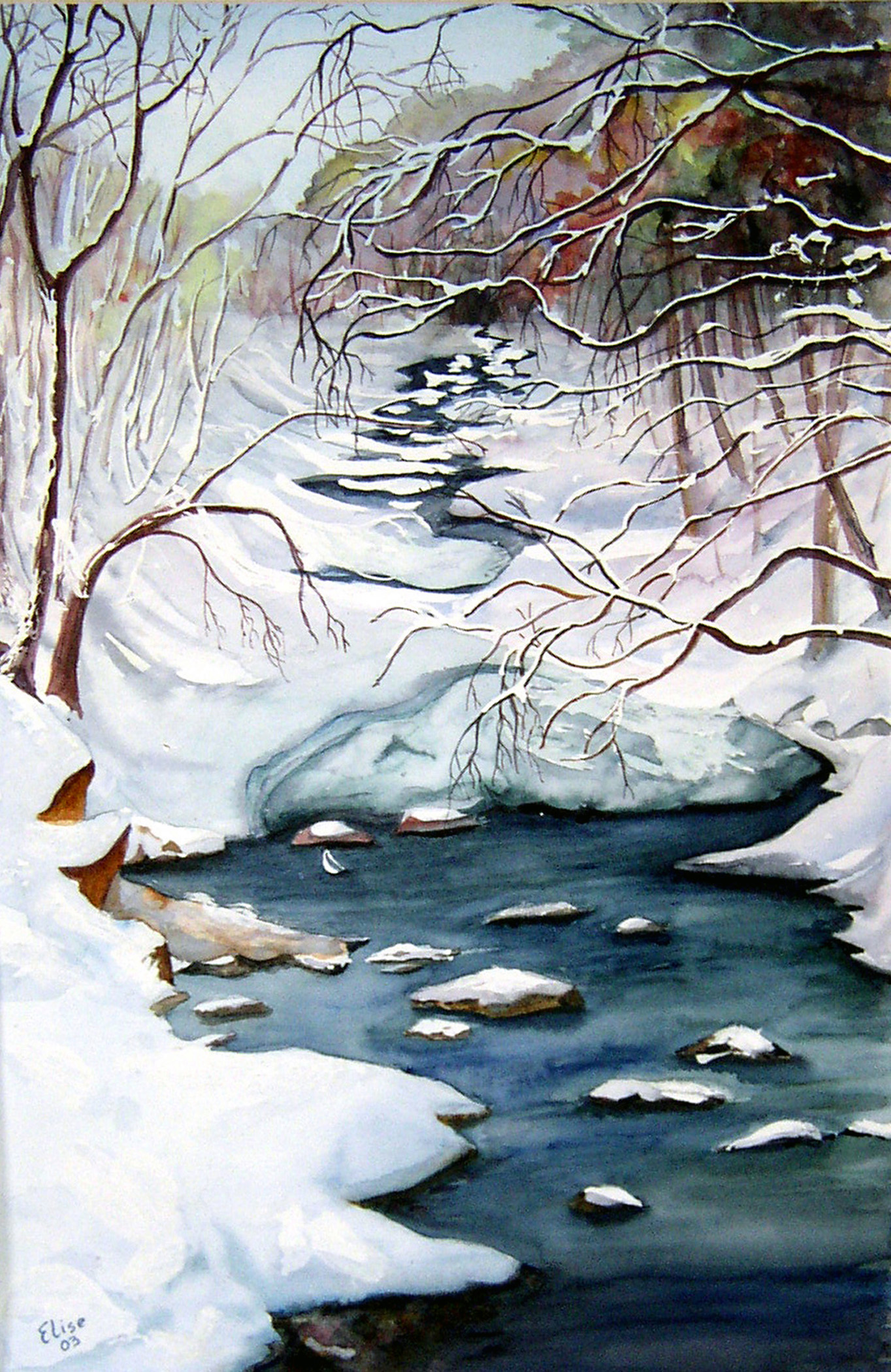 ArticleImage- Anchor Ice, A watercolor painting by Elise Hornbeck