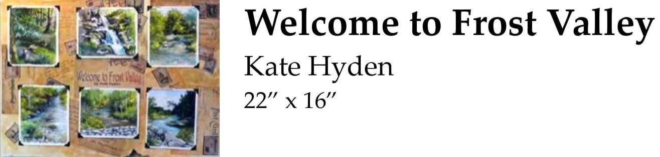 Welcome to Frost Valley Kate Hyden