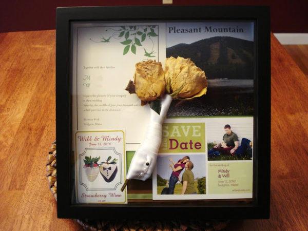 Wedding Day Mementos - Shadow Box