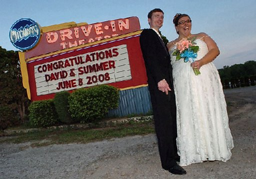 Drive in Movie Theater Wedding