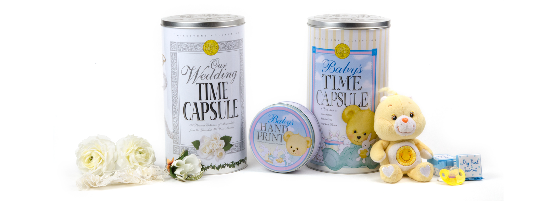 Wedding Time Capsule, Baby Time Capsule, and Baby Handprint Kit