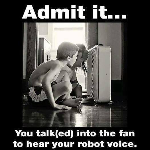 Remember the 80s - Talking in a Fan