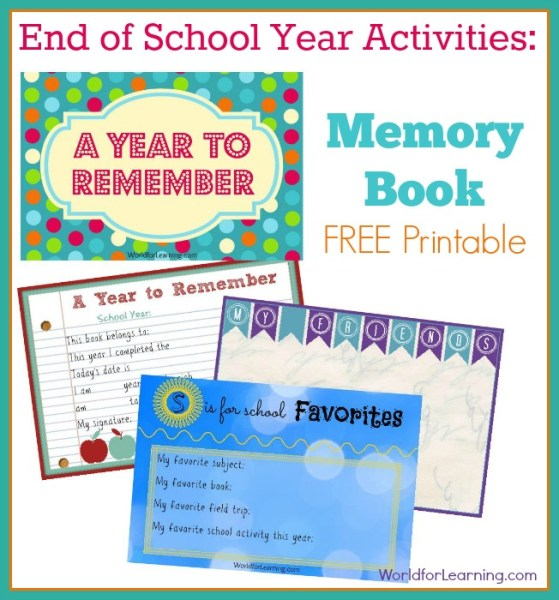 School Memory Book - Free Page