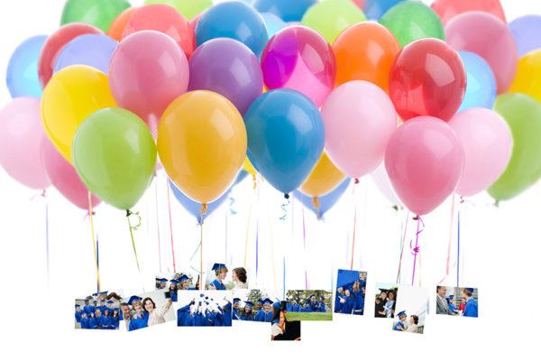 Graduation Party Ideas - Balloons and Photos