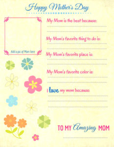 Mother's Day Gifts from Kids - All About Mom