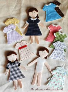 DIY Gift Ideas - Felt Paper Dolls