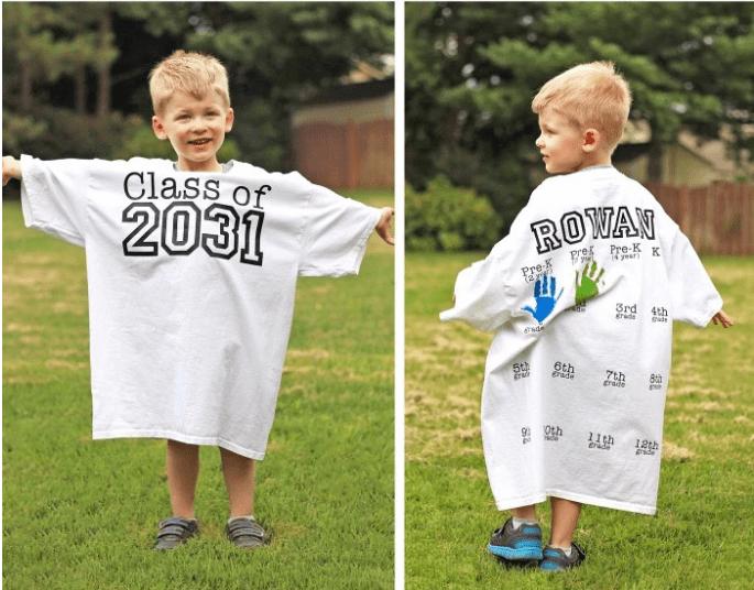 Hand Print Crafts to Cherish - Graduation Class Shirt