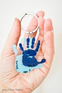 Hand Print Crafts to Cherish - Key Chain