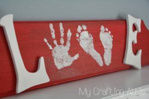 Hand Print Crafts to Cherish - Love Sign