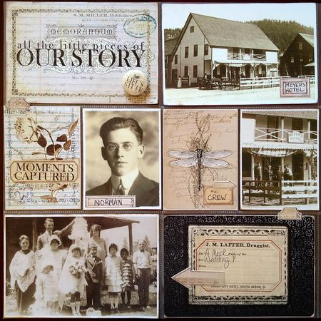 Heritage Project Ideas -- Home Scrapbook Page