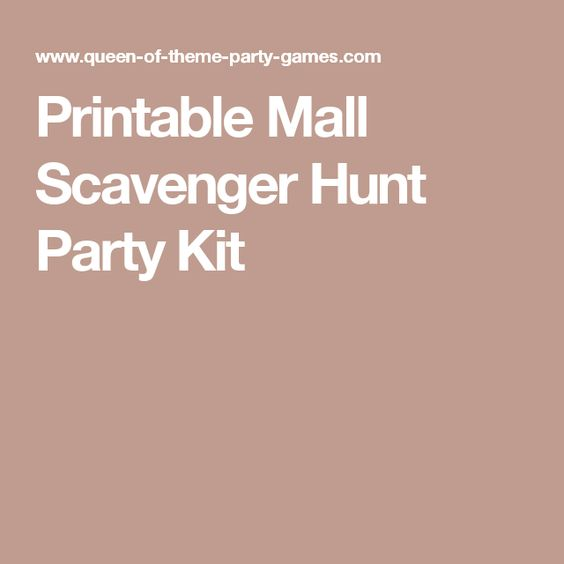 First Date Memories - Mall Scavenger Hunt
