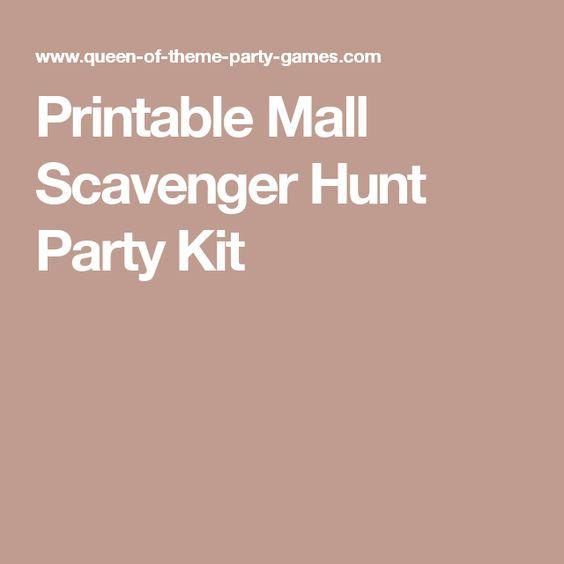 First Date Memories - Mall Scavenger Hunt