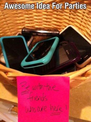 Digital Free Weekend - Put Cell Phones in Basket