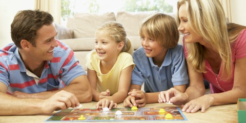 Family Bonding - Playing a board game