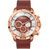Breeze Tropical Affair Chrono Rose Gold Brown Rubber Strap image