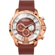 BREEZE Breeze Tropical Affair Chrono Rose Gold Brown Rubber Strap 2018