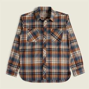 Vintage Workwear Flannel Checked Work Shirt