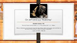 Dr. Ọbádélé Kambon: Ma'at and Nsyt (Rulership) Lecture Video Recording and PDF Slides