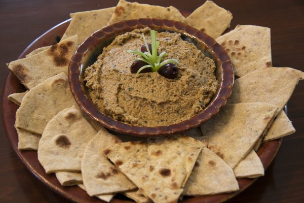 Baba Ghanoush with Indian Flatbread