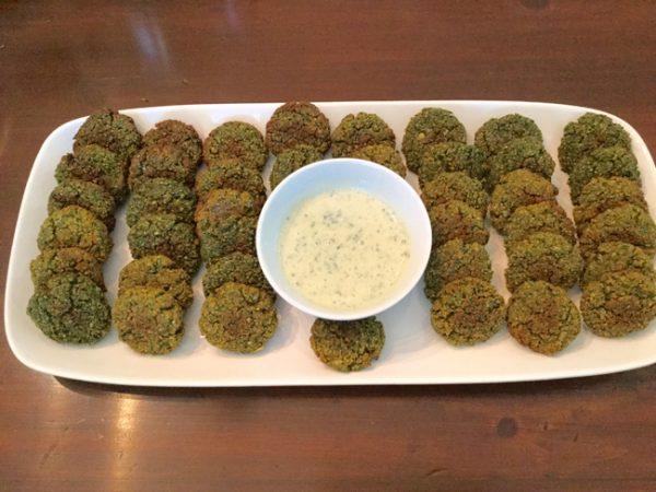 Mediterranean Baked Falafel with Tzatziki Sauce