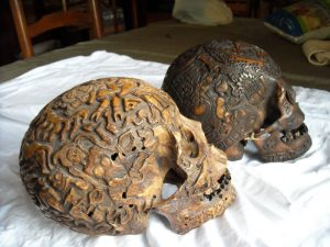 Sculpted Tibetan Skulls