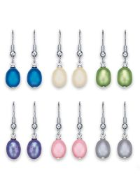 Genuine Freshwater Pearl Earrings | Time For Me Catalog