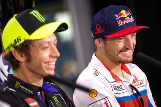 Valentino Rossi con Jack Miller