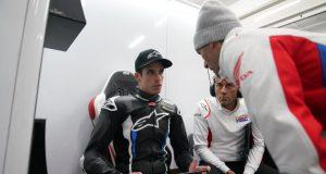 Alex Márquez con Alberto Puig