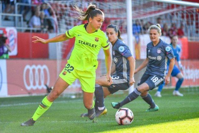 Lieke Martens en un partido con el F.C. Barcelona