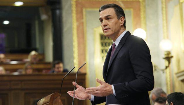 Pedro Sánchez, en el debate de investidura.