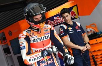 Álex Márquez con la Honda Oficial