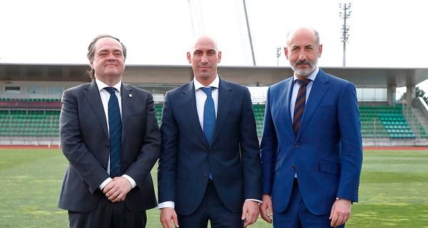 Los presidentes de la RFEF, Real Sociedad y Athletic Club