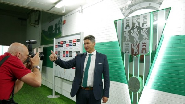 Alfonso Serrano el día de su presentación Fuente: Web oficial de Córdoba CF.