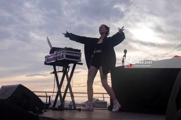 DJ BABYKATZE de telonera de Don Patricio en el Festival TerraCeo. Paula Cabaleiro