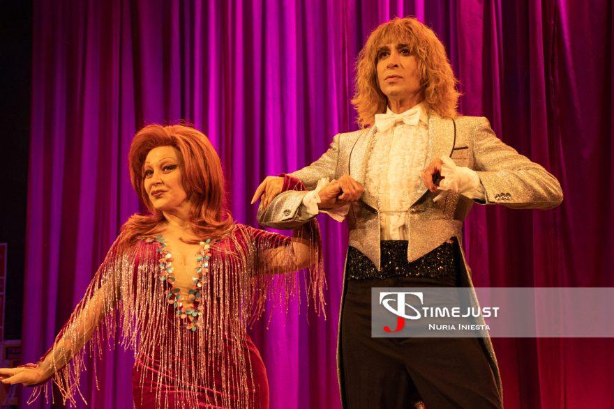 Alaska y Mario Vaquerizo en la representación de La Última Tourné. // Foto: Nuria Iniesta