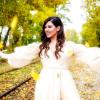 Tamara durante la grabación de su videoclip
