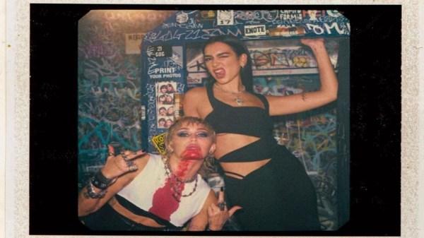 Miley cyrus y dua Lipa videoclip Prisoner vía Twitter