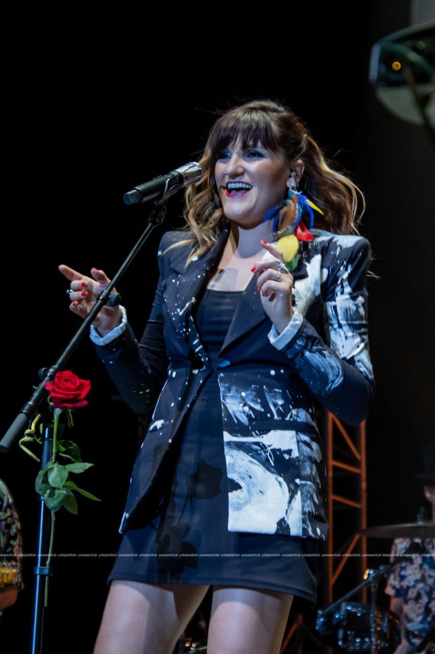 Rozalén durante su concierto en el WiZink Center, el pasado 8 de julio
